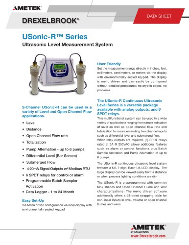 Ultrasonic Level Measurement USonic-R Series
