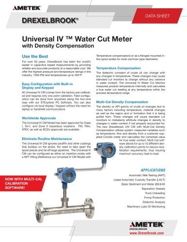 Universal IV ™ Water Cut Meter