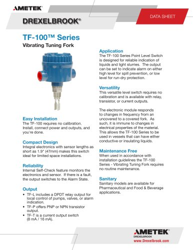 Vibration Level Measurement TF-100 Series
