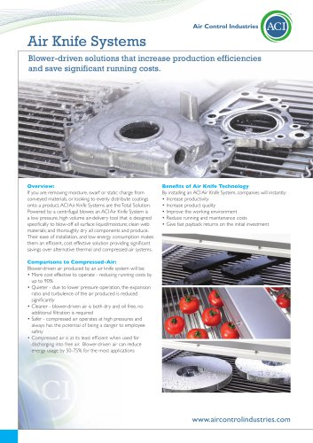 ACI Air Knife System Solutions
