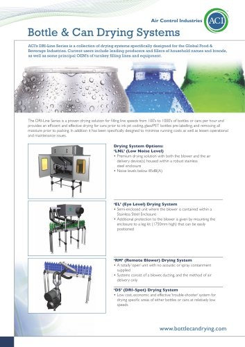 ACI Bottle and Can Drying Solutions