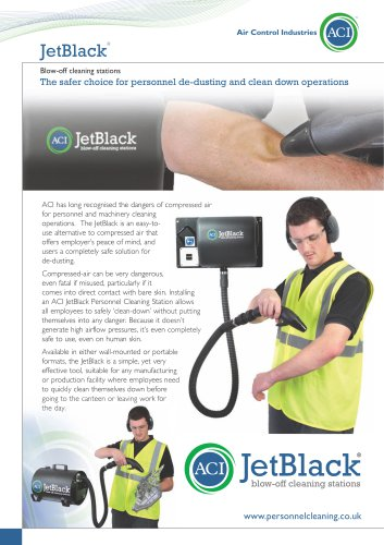 ACI's JetBlack Personnel Cleaning Station