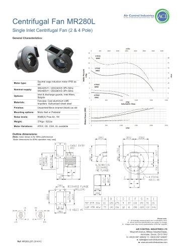 Centrifugal Fan MR280L