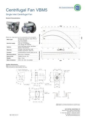 Centrifugal Fan VBM5