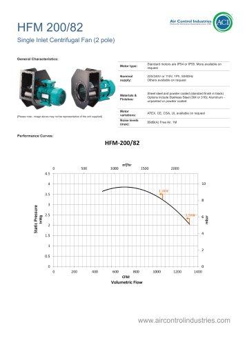 HFM 200/82 Single Inlet Centrifugal Fan
