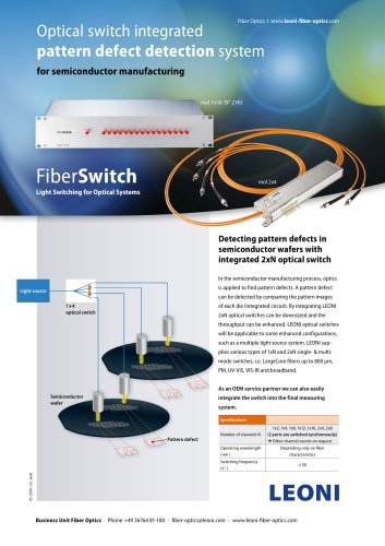 Fiberswitch Optical Switch Integrated Pattern Defect Detection System Leoni Pdf Catalogs Technical Documentation Brochure