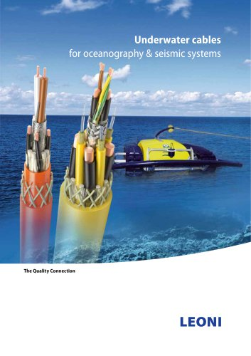 Underwater cables for oceanography & seismic systems
