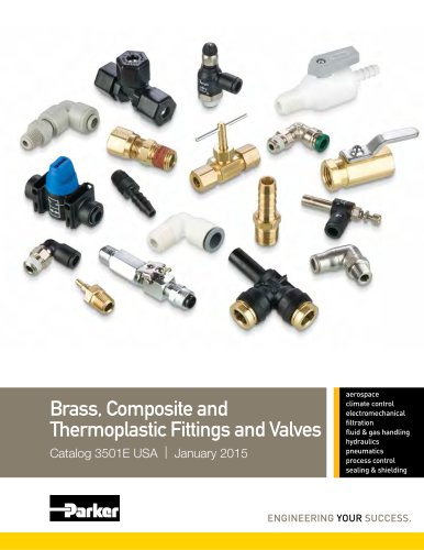 Brass, Composite and  Thermoplastic Fittings and Valves