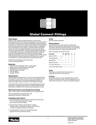 Global Connect Fittings Catalog