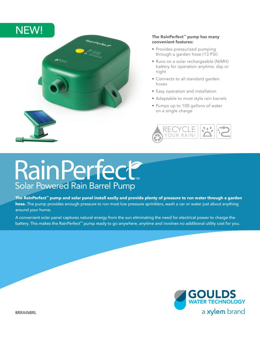 Brrainbrl Rainperfect Solar Ed Rain Barrel Pump 1 2 Pages
