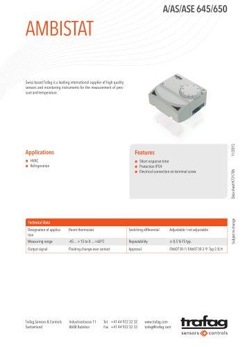 Data Sheet A/AS/ASE 645/650
