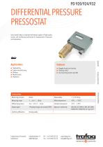 DIFFERENTIAL PRESSURE PRESSOSTAT PD 920/924/932 - 1