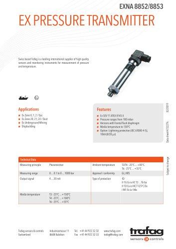 Ex Pressure Transmitter EXNA 8852/8853