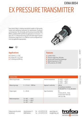 Ex Pressure Transmitter EXNA 8854