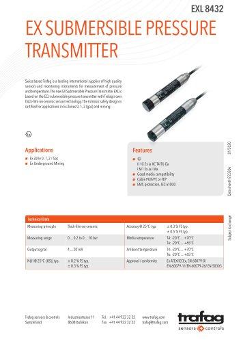 EX SUBMERSIBLE PRESSURE TRANSMITTER EXL 8432