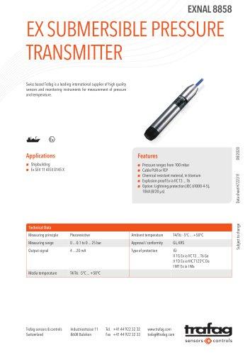 EX SUBMERSIBLE PRESSURE TRANSMITTER EXNAL 8858