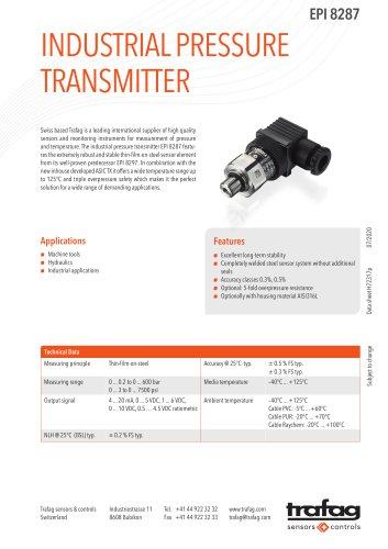 INDUSTRIAL PRESSURE TRANSMITTER EPI 8287