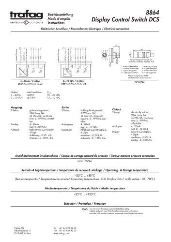 Instruction DCS 8864