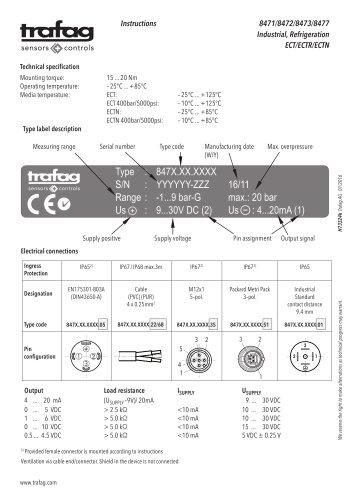 Instruction ECT 8472
