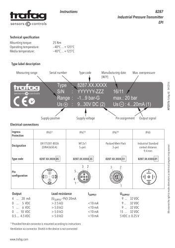Instruction EPI 8287