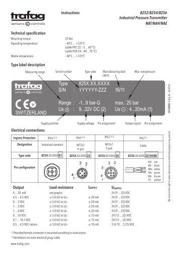 Instruction NAE 8256