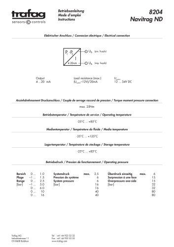 Instruction ND 8204