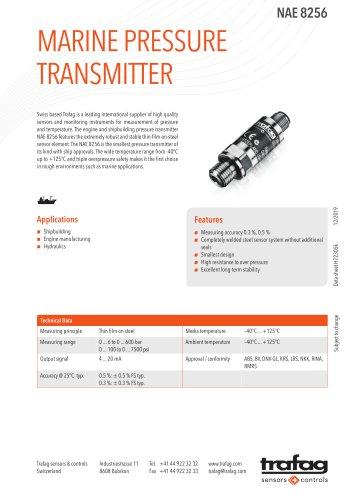 MARINE PRESSURE TRANSMITTER NAE 8256