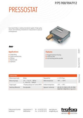 Pressostat P/PS 900/904/912