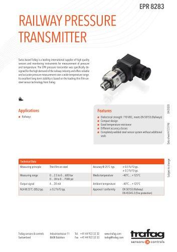 RAILWAY PRESSURE TRANSMITTER EPR 8283