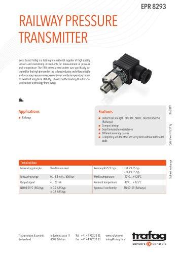 RAILWAY PRESSURE TRANSMITTER EPR 8293