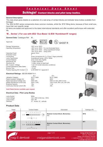 Schlegel Contact Blocks