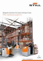 Bespoke solutions for every transport task. STILL warehouse equipment.