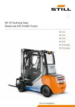 Diesel and LP Gas forklift truck RX 70 Hybrid 3,0 - 3,5 t