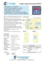 4-digit weight instrument DP571 - 1