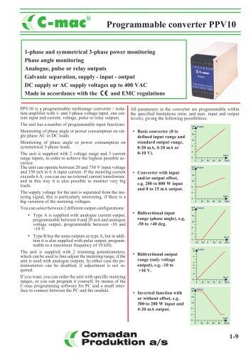 Programmable converter PPV10
