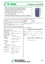 RF20, frequency relay - 1