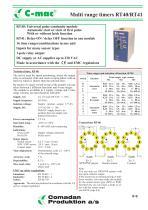 RT40/RT41, Multi range timers - 1
