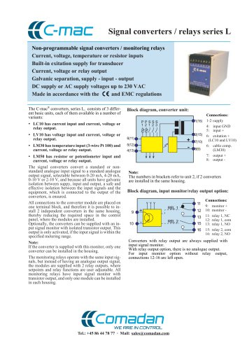 Signal converters/relays series L