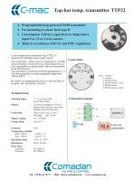 Top-hat temp. transmitter TTP22 - 1