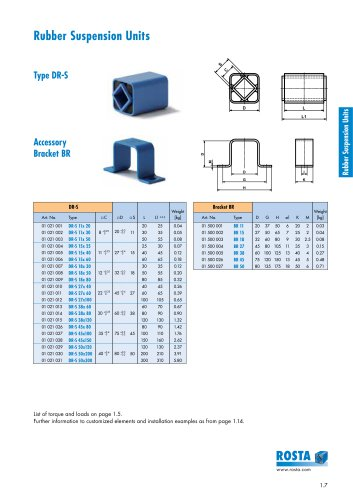 Product Info Type DR-S