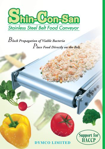 All stainless steel food conveyor