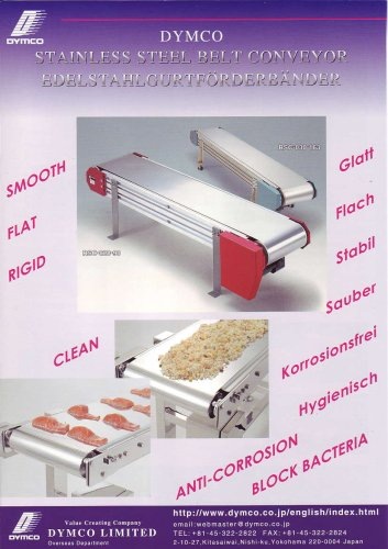 Dymco stainless steel belt conveyor