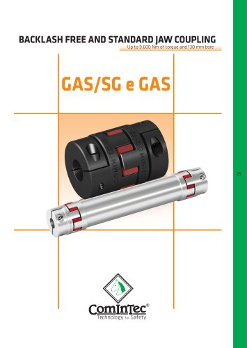 Backlash free jaw spacer coupling «in alluminium» ``GAS/SG-AL``