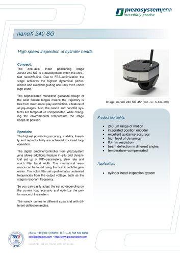 High speed positioner nanoX 240 SG
