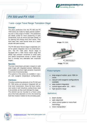 long distance linear actuator PX 500