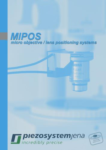 MIPOS Catalog (microscope objective positioner)