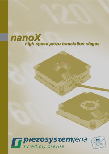 nanoX catalog (high speed piezo translation stages)