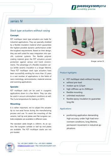 Piezo actuators series N