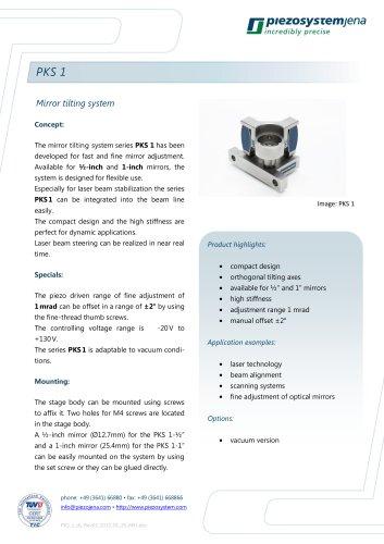 Piezo mirror tilting system PKS 1
