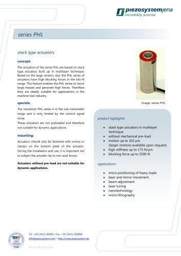 Stack type actuator series PHL